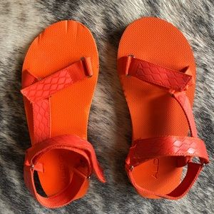 Aldo Shoes - Electric Orange Teva styles sandals (from Aldo)